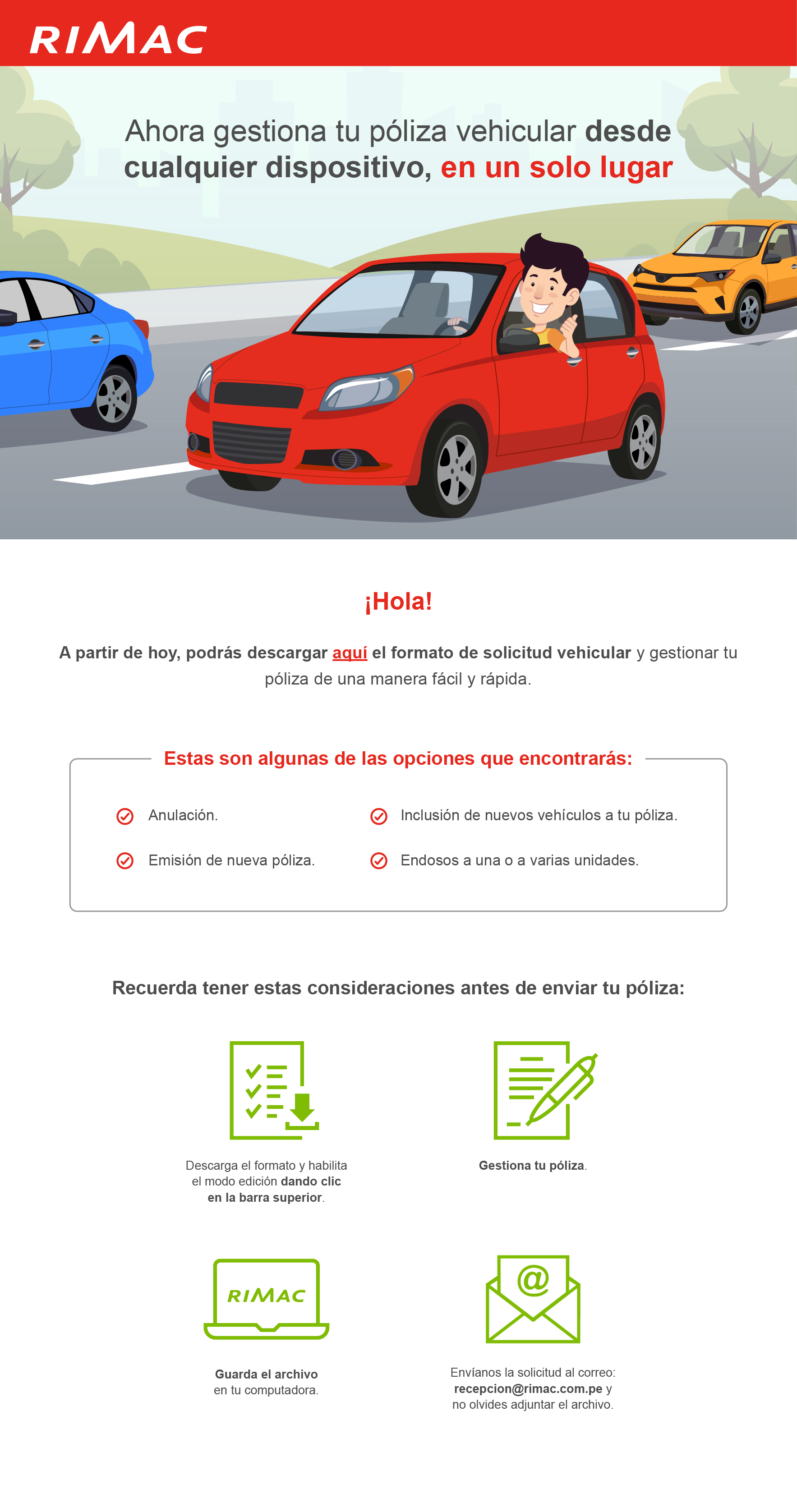 Solicitud vehicular